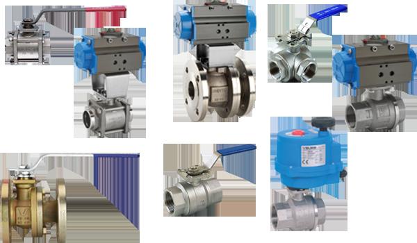 Ball valves, steel