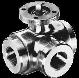 303001-T / 313001-L kulventil stål